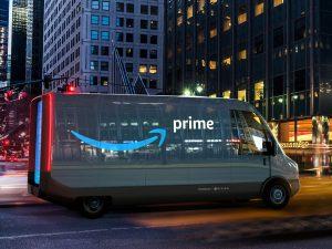 Elektrinis furgonas Rivian išvežios Amazon prekes