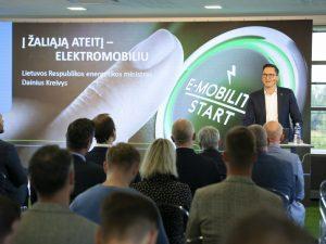 Energetikos ministras D. Kreivys: elektromobilumas – svarbi ateities ekosistemos dalis
